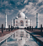 Taj Mahal in Agra stockbild
