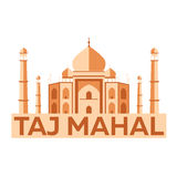 Taj Mahal agra Architecture indienne Conception plate moderne Illustration de vecteur Photo libre de droits