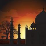 Taj Mahal, agra, Inde illustration stock