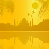 Taj Mahal, agra, India. Silhouette of the Taj Mahal, agra, India Royalty Free Stock Image