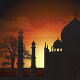 Taj Mahal, agra, India. Silhouette view of Taj Mahal, agra, India Royalty Free Stock Images
