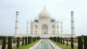 Taj Mahal, Agra, India video d archivio