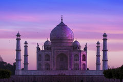 Taj Mahal, Agra, India Royalty-vrije Stock Foto