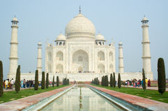 Taj Mahal Agra India. Scenic view of Taj Mahal viewed from front, Agra, India Royalty Free Stock Photography