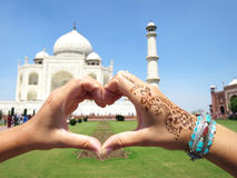 Taj Mahal Agra, India Foto de Stock Royalty Free