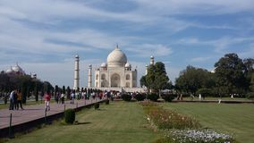 Taj Mahal in Agra, India Stock Afbeelding