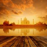 Taj Mahal Agra India auf Sonnenaufgang Lizenzfreie Stockfotografie