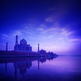 Taj Mahal Agra India on blue hour Royalty Free Stock Photo