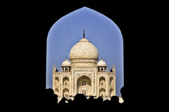 Taj Mahal. AGRA, INDIA - Taj Mahal during day Stock Photos