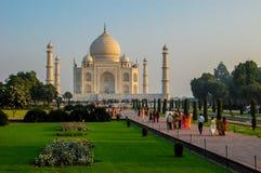 Visitors at the Taj Mahal in Agra, India Stock Image