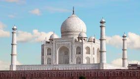 Taj Mahal, Agra India Geschoten op Canon 5D Mark II met Eerste l-Lenzen stock video