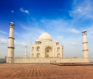 Taj Mahal, Agra, India. Indian famous landmark - India travel background Taj Mahal. Agra, Uttar Pradesh, India Stock Image