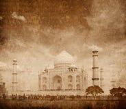 Taj Mahal, Agra, India. Taj Mahal. Indian Symbol - India travel background with grunge texture overlaid. Agra, India Royalty Free Stock Images