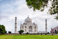 Taj Mahal - Agra - India. The Taj Mahal is a mausoleum at Agra in northern India, built by the Mogul emperor Shah Jahan (1592–1666) in memory of his favorite Stock Photography