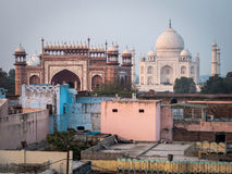 The Taj Mahal in Agra, India Royalty Free Stock Photography
