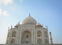 Taj Mahal in Agra, India. The Taj was built by Shah Jahan as a memorial for his third wife, Mumtaz Mahal Royalty Free Stock Photography