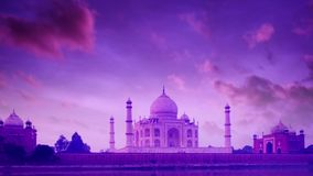 Taj Mahal Agra India on twilight. Taj Mahal in Agra, India on twilight. 4k footage video stock video
