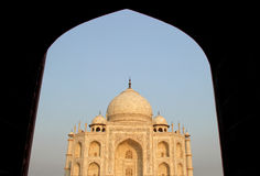 Taj Mahal, Agra, India view from mosque in evening Stock Images