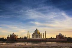 Taj Mahal ,Agra, India. Taj Mahal, India, Agra, 7 world wonders dramatic light sunset Stock Photo