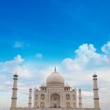 Taj Mahal Agra India z niebieskim niebem Zdjęcie Stock