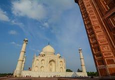 Taj Mahal in Agra, Indien stockbilder