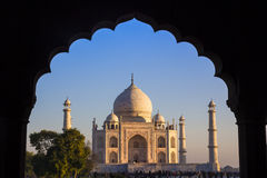 Taj Mahal Agra, Indien Arkivbild