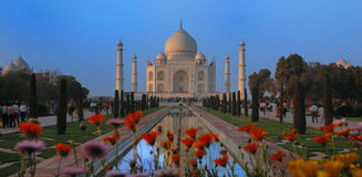 Taj Mahal - Agra, Indien stockfotos