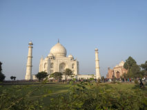 Taj Mahal, Agra Indien stockfotos