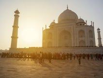 Taj Mahal, Agra Indien stockbilder