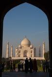 Taj Mahal Agra INDIEN - DECEMBER 07, 2012 Royaltyfri Foto
