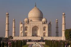 Taj Mahal Agra INDIEN - DECEMBER 07, 2012 Arkivfoto