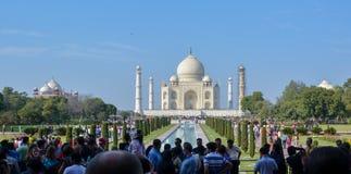 Taj Mahal, Agra, Indien, am 19. Februar 2017 Lizenzfreies Stockfoto