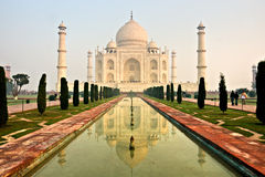 Taj mahal, Agra, la India. Imagen de archivo