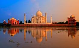 Taj Mahal, Agra, la India imagen de archivo