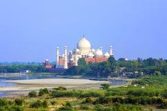 Taj Mahal in Agra royalty free stock photography