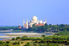 Taj Mahal in Agra stock image