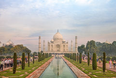 Taj Mahal, Agra, Uttah Pradesh, India Zdjęcia Royalty Free