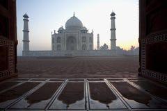 Taj Mahal in Agra, India in the early morning Stock Photos