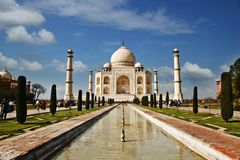 Taj Mahal, Agra, Uttar Pradesh, India Royalty Free Stock Photo