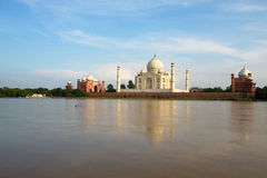 The Taj Mahal at Agra, Uttar Pradesh, India, seen from across the river Stock Images