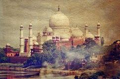 Taj Mahal in Agra, Uttar Pradesh, India Stock Photography