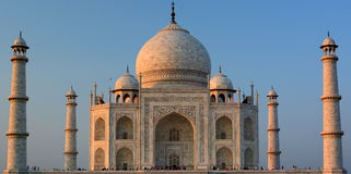 taj mahal Agra, Uttar Pradesh indu Zdjęcie Royalty Free