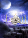 Taj Mahal Alien World Fantasy illustration Royaltyfri Fotografi
