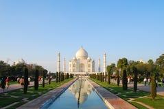 Taj Mahal alla luce di tramonto, Agra, Uttar Pradesh, India Immagini Stock Libere da Diritti