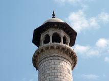Taj Mahal, alminares imagenes de archivo