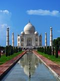 Taj Mahal, the amazing mausoleum in Agra (India) Stock Images