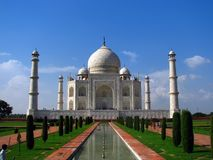 Taj Mahal, the amazing mausoleum in Agra (India) Stock Image