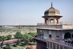 Taj Mahal Ansicht vom roten Fort, Agra Stockfoto