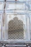 Taj Mahal Arc - arabic style. Beautiful wall. Taj Mahal Agra India. Pattern background. Arc - arabic style. Beautiful wall Stock Photos