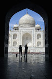 Taj Mahal through an arch 2 Stock Photos